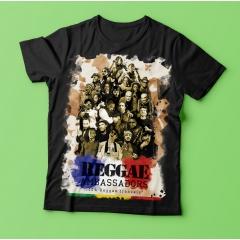 T-Shirt Reggae Ambassadors 100% Reggae français