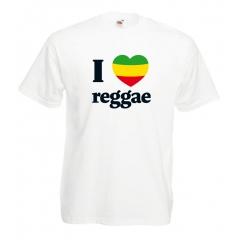 T-Shirts I Love Reggae en série limitée